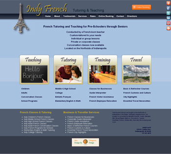 Indy French Teaching & Tutoring Website