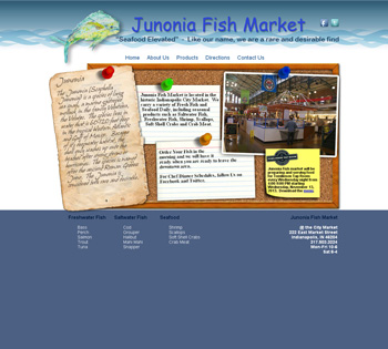 Junonia Fish Market Website