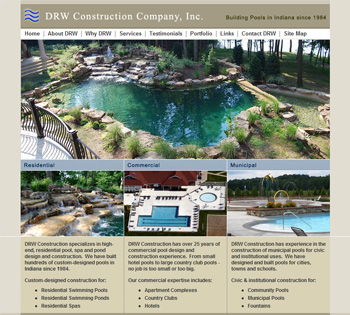DRW Construction Company Inc. website